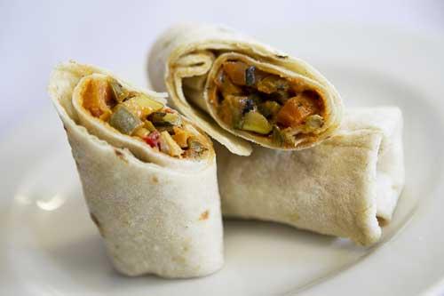 Mediterranean Roast Vegetable Wrap