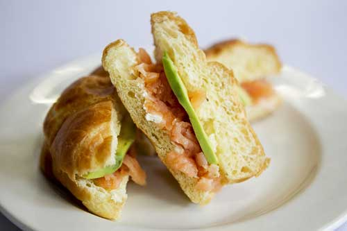Smoked Salmon and Cream Cheese Croissant