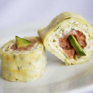 Smoked Salmon and Cream Cheese Pinwheel