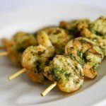 Grilled Tiger Prawn and Basil Pesto Kebab