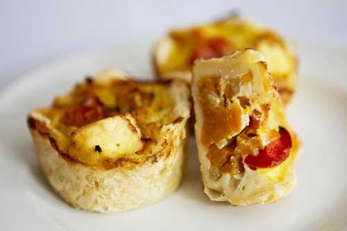 Roast Butternut and Feta Quiche