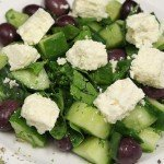Cucumber, Feta and Olive Salad