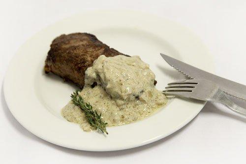 Matured Rib Eye Steak With Pepper Sauce