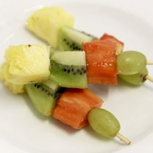 Seasonal Fruit Kebabs
