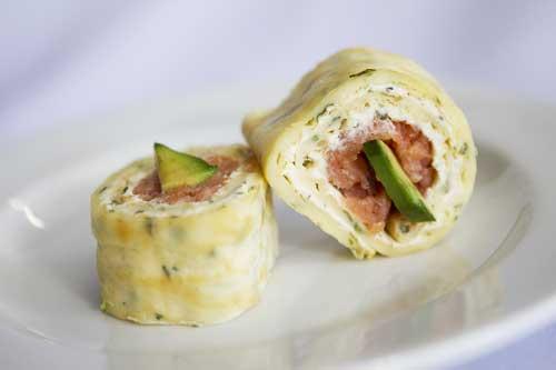 Smoked Salmon and Cream Cheese Pinwheel
