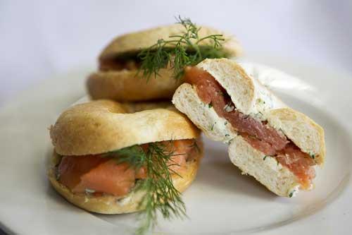 Smoked Salmon Bagels
