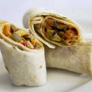 Mediterranean Roast Vegetable Wrap