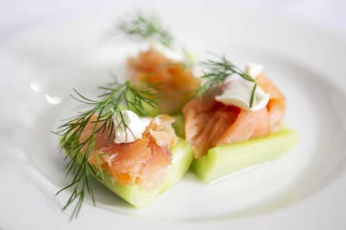 Smoked Salmon Cucumber Wedge