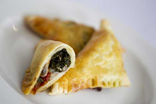 Spinach, Sun-Dried-Tomato, Mushroom Parcels
