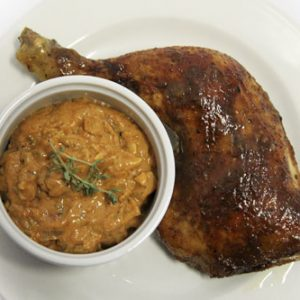 Cape Verde Chicken Coconut Garlic Sauce With Roasted Nuts1