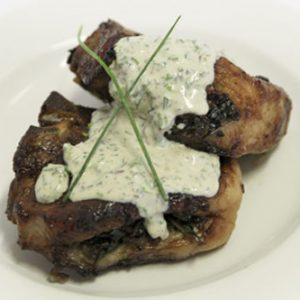 Stuffed Lamb Loin Chops With Light Herb Sauce